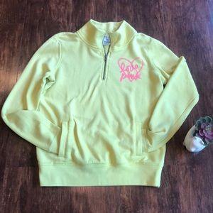 Pink quarter zip pullover